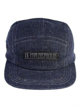Mr.Serious Five Panel Hat (Zip Cap) jeans blue