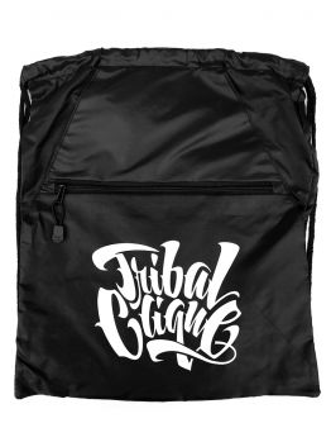 Tribal Drawstring Bag (Black)