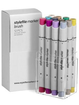 Stylefile 12 Brush Marker Set (Multi 13)