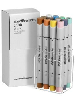 Stylefile 12 Brush Marker Set (Multi 14)