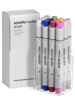 Stylefile 12 Brush Marker Set (Multi 17)