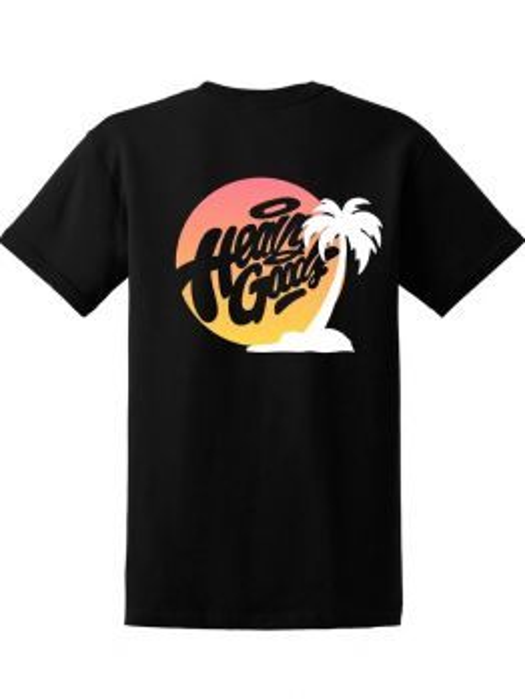 Heavy Goods T-shirt (Sunset Logo) - Black