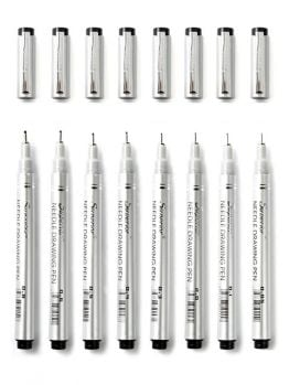 Superior Fineliner 8 marker set (Basic)