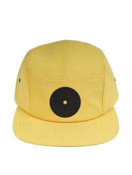 Mr.Serious Five Panel Hat (Yellow Super Fat Cap) - Yellow/Black