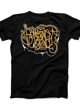Bombing Science t-shirt (Wild Handstyle) - Black/Yellow