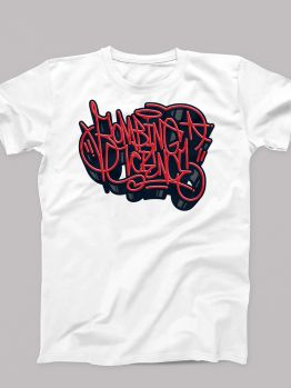 Bombing Science t-shirt (Wild Handstyle) - White/Red