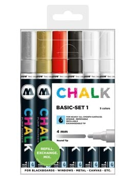 Molotow Chalk Markers 4mm (Basic Set 1)