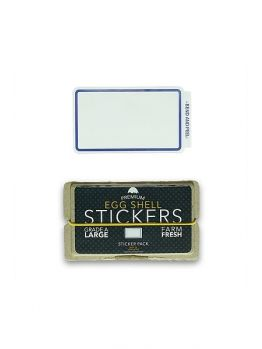 Egg Shell Sticker Pack (Line Border) - Blue