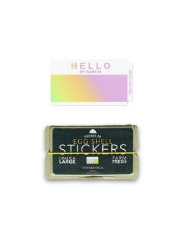 Egg Shell Sticker Pack (Hello My Name Is) - Hologram