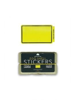 Egg Shell Sticker Pack (Line Border) - Yellow