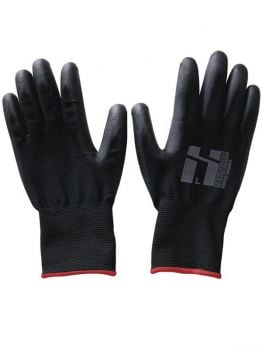 Mr.Serious Pu coated gloves - Black