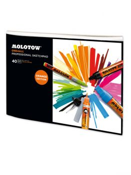 Molotow Professional Sketchpad A4 (Orange Edition) - 29.7x21cm