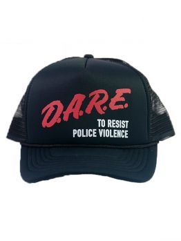 Indecline Trucker Hat (D.A.R.E) - Black