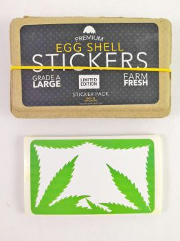 Egg Shell Stickers (WEED Blanks)