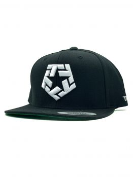 Tribal snapback hat (White T-star) - White/Black