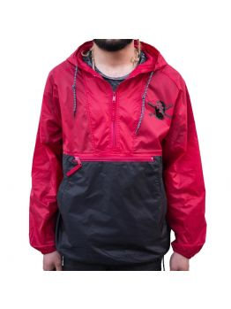 Stompdown Windbreaker - Black/Red