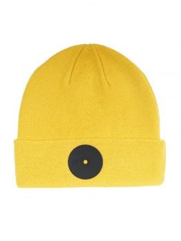 Mr.Serious Beanie (Yellow Super Fat) - Yellow/Black